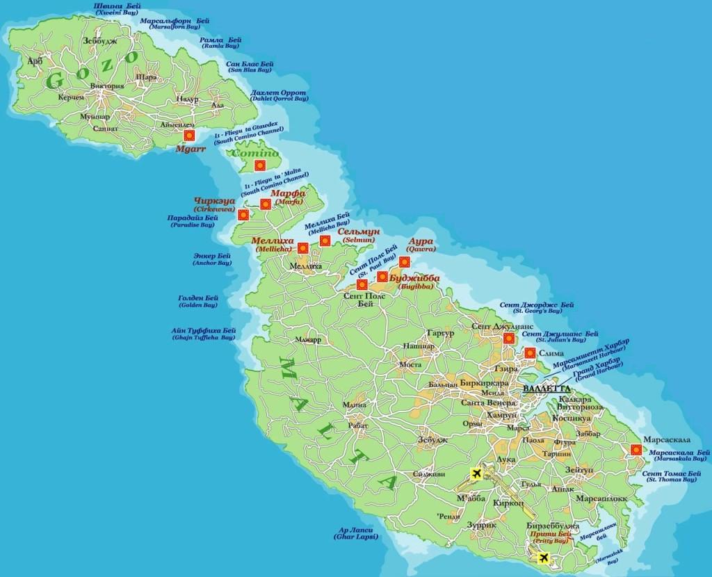 карта malta