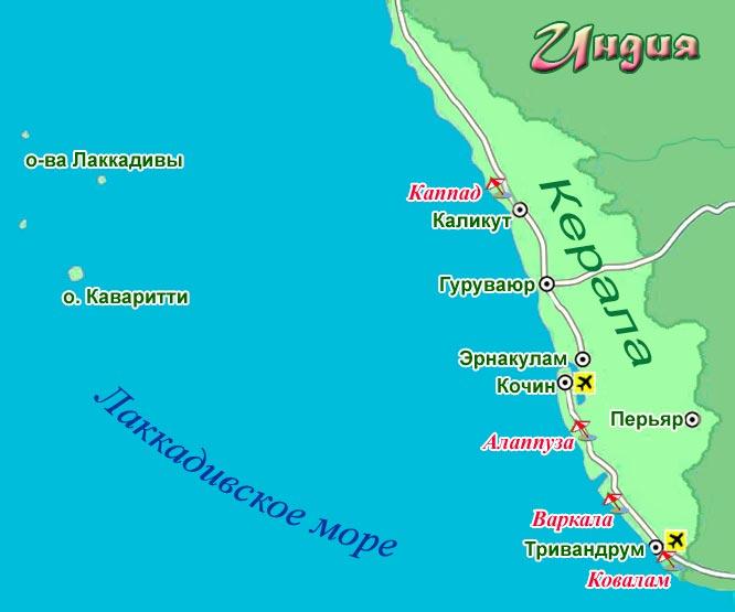 карта Керала